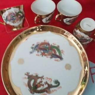 Wedding Tea Ceremony Serving Plate and Tea cups