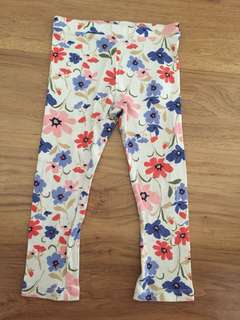 Old Navy flower legging