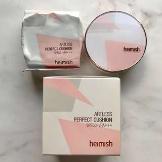 [heimish] Artless Perfect Cushion SPF50+/PA+++ (+refill) #23 (EXP 2018/11)