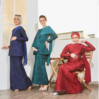 [READYSTOCK] Sri Ledang Maternity + Nursing Exclusive Brocade Kurung