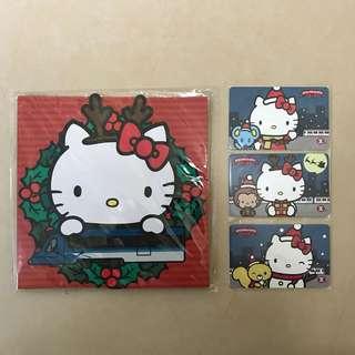 Hello Kitty港鐵紀念票一套