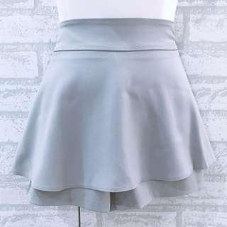 Plain Grey Layer Skort