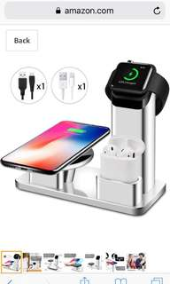 3 in 1 Wireless charger - iphone, ipods, iwatch