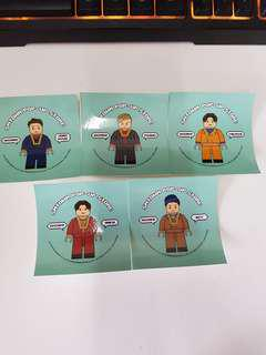 Official SHINEE SMTOWN Pop-Up Stickers