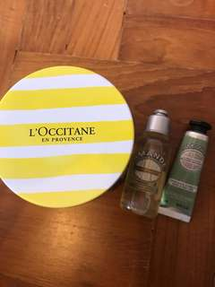 L'occitane Gift Set with metal box