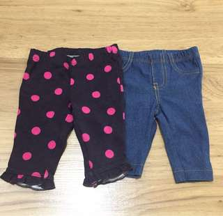 Newborn baby legging for two