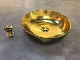 Gold colour design basin