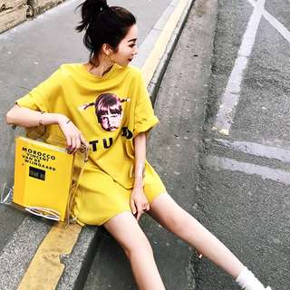 2018新款韓版t恤短袖中長款bf寬鬆女孩上衣情侶款