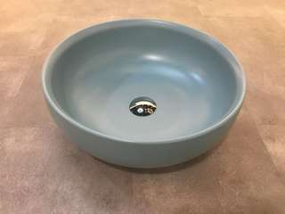 Blue colour basin