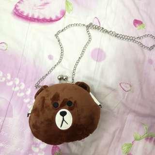 🚚 熊斜肩口金包