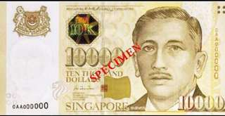 $10000 note portrait series