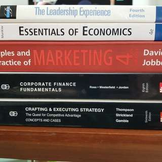 Marketing, corporate finance fundamental, strategy, economics, leadership