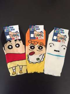 Crayon Shin Chan Set of 3 Socks