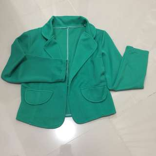 Turquoise green blazer