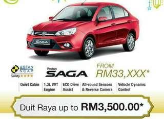 Proton Saga 1.3 CVT RAYA