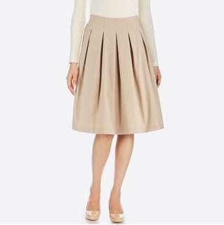 Uniqlo 高腰dry彈性打褶裙