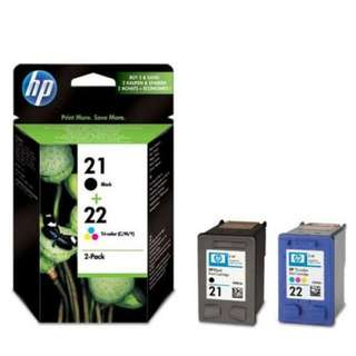 HP 21 Black and 22 Tri-color 2-pack Original Ink Cartridges