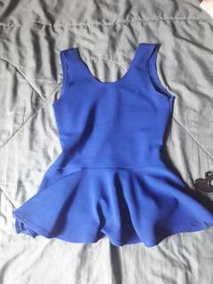Backless blue top