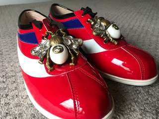 Gucci red sneakers