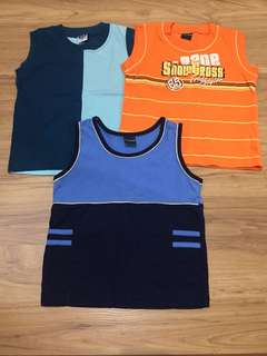 Boy singlet for 3 pieces