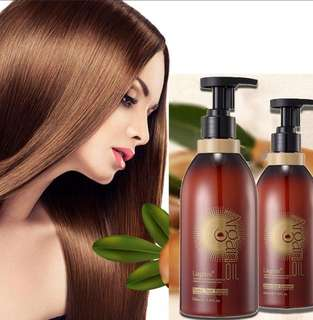 Morocco Argan Oil Hair SHAMPOO and CONDITIONER Set Hair loss Premium Organic Oil Moisture Repair 500ml each bottle