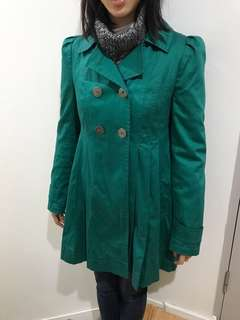 Super cute teal trench dressy coat ASOS near new condition