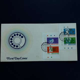 SGFDC 79. 1979-10-05 Singapore FDC. -100 Years Of Telephone Service Commemorative Stamps.