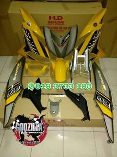 COVERSET Y15ZR SNIPER 150 KUNING GREY YELLOW 2018
