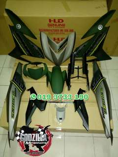 COVERSET Y15ZR SNIPER 150 HIJAU GREEN GREY 2018