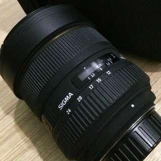 Sigma 12-24mm F4.5/5.6 FX Lens