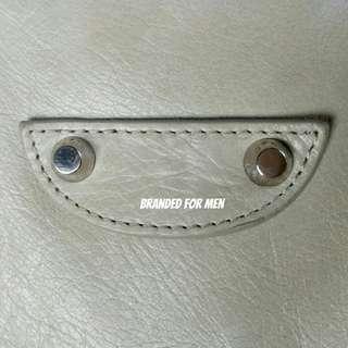 Balenciaga Lamb Skin Small Messenger Bag. Pewter