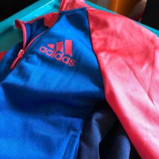 Adidas 小童運動套裝 Jacket Pants set size 4-5yo