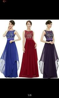 Women Bridesmaid Gown Formal Prom Dress Long Dresses Party