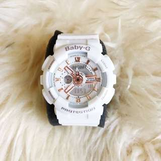 BABYG WHITE ROSEGOLD WATCH
