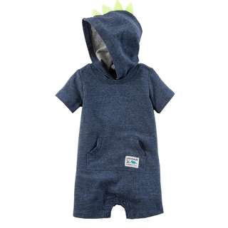 🚚 CABY119 Carter's Baby Boys Spike Romper - Navy