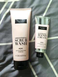 🚚 Victoria's Secret Smoothing Scrub Wash/Hand Cream