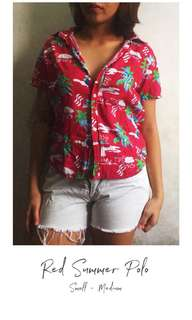 Red Summer Polo