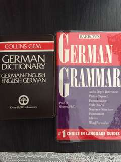 German Dictionary & Grammar books