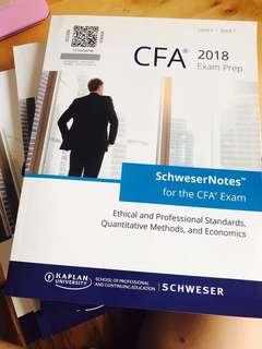 2018 CFA II Schweser Notes