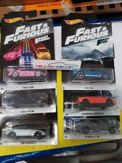 2018 Hot Wheels Fast And Furious Set