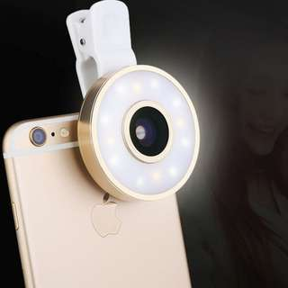 Selfie Light Led+ lenses + photography