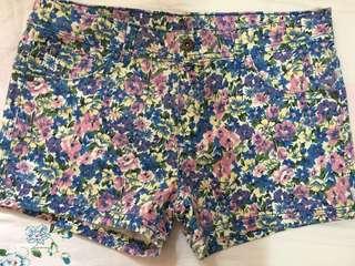 H&M Blue Floral Shorts