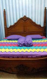 Set tempat tidur jati (tnp lemari & spring bed)