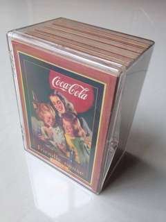 Full Set 1995 Coca Cola Series 4 Base Set of 100 Cards + free plastic box!