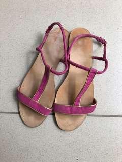 Zara basic sandal pink size 39