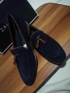 Zalora Suede Penny Loafers Genuine Cow Hide