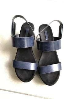 Vincci sandal wedges heels navy blue size 8 39