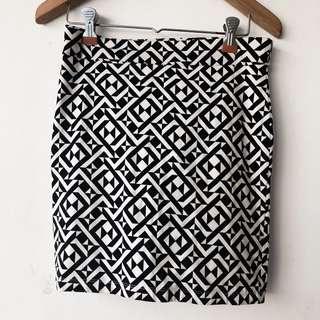 Forever 21 Geometric Print Skirt