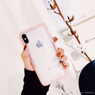 Transparent back case PINK