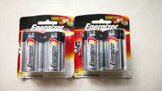 Energizer Max D Batteries (expires 2024